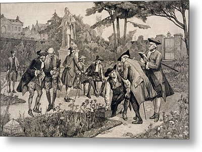The Old Physic Garden Of The Society Of Apothecaries At Chelsea Metal Print by Thomas W Lascelles