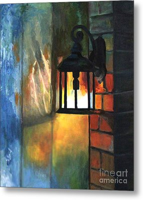 The Old Porch Light Metal Print
