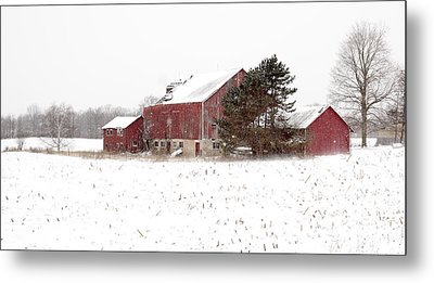 Metal Print featuring the photograph The Old Red Barn by Nick Mares