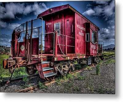 Metal Print featuring the photograph Old Red Caboose by Thom Zehrfeld