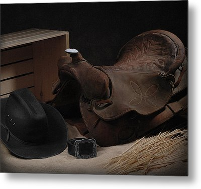 Metal Print featuring the photograph The Old Saddle by Krasimir Tolev