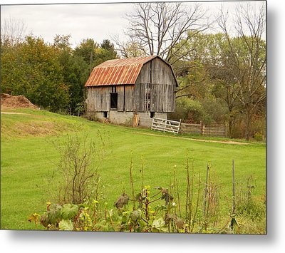 The Old Shed Metal Print by Jean Goodwin Brooks