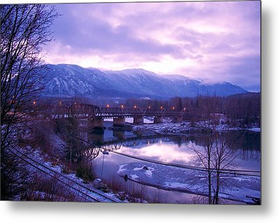 The Old Skeena Bridge Metal Print by Sylvia Hart