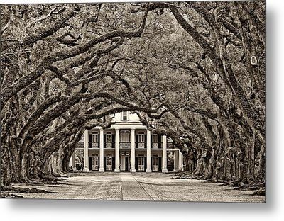 The Old South Sepia Metal Print