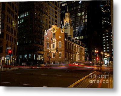 The Old State House Metal Print by Sabine Edrissi