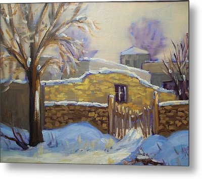 The Old Stone Wall Metal Print by Robert Martin