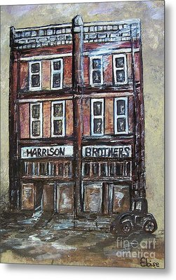 Metal Print featuring the painting The Old Store by Eloise Schneider