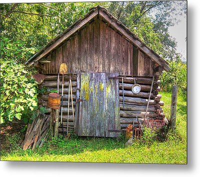 The Old Tool Shed II Metal Print by Lanita Williams