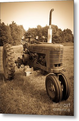 The Old Tractor Metal Print by Edward Fielding