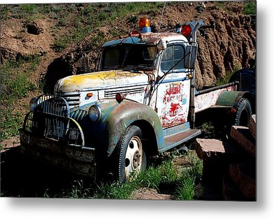 Metal Print featuring the photograph The Old Truck by Dany Lison
