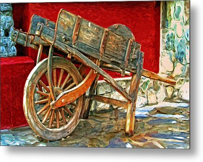 The Old Wheelbarrow Metal Print by Michael Pickett
