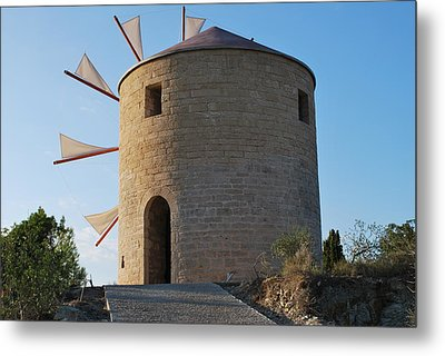 The Old Windmill 1830 Metal Print by George Katechis