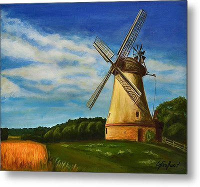 The Old Windmill Metal Print by Gynt Art