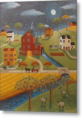 The Olde Red Mill Metal Print by Mary Charles