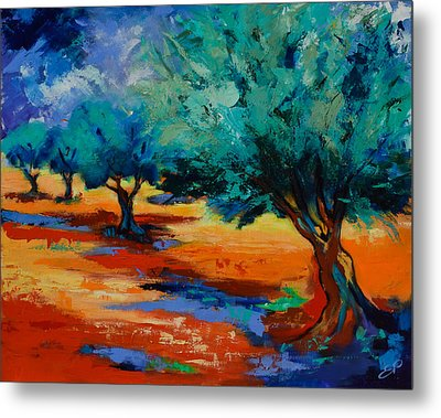 The Olive Trees Dance Metal Print by Elise Palmigiani