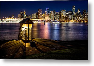 The Olympic Cauldron From Stanley Park In Vancouver Metal Print by Alexis Birkill