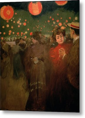 The Open Air Party Metal Print by Ramon Casas i Carbo