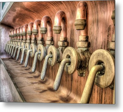 The Beer Valves Metal Print by Nick Mares
