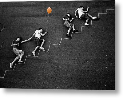 The Orange Balloon Metal Print