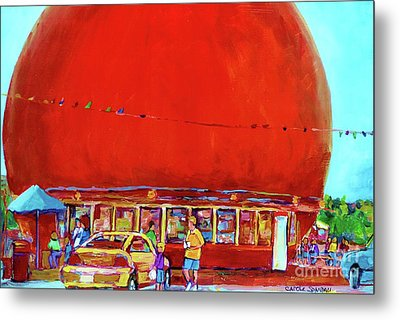The Orange Julep Montreal Summer City Scene Metal Print