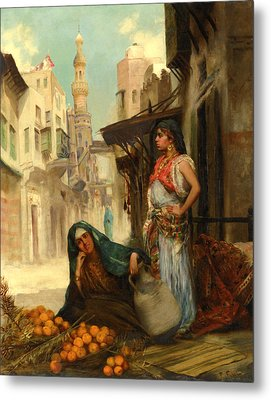 The Orange Seller Metal Print by Fabbio Fabbi