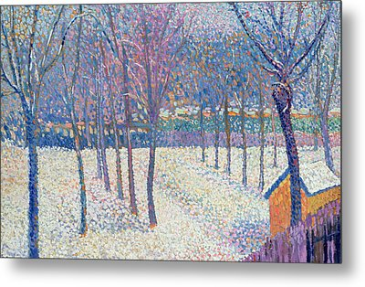The Orchard Under The Snow  Metal Print