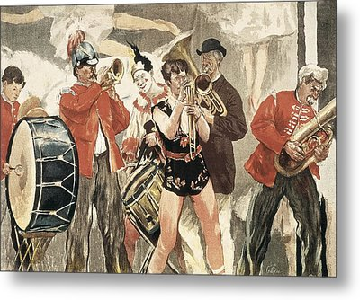 The Orchestra Of The Circus. 1888-1889 Metal Print by Everett