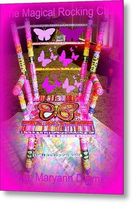 The  Original Magical Rocking Chair Metal Print by Maryann  DAmico