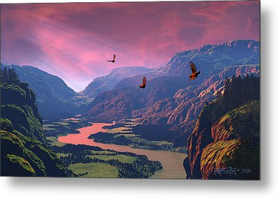 The Other Side Metal Print by Dieter Carlton