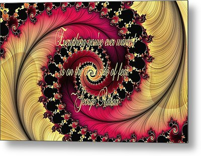 The Other Side Of Fear Metal Print