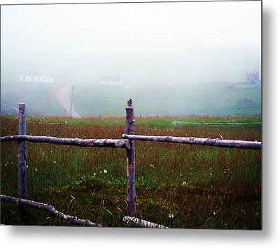The Other Side Of The Field Metal Print by Zinvolle Art
