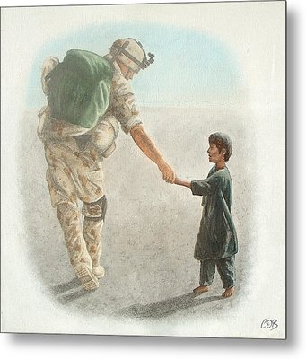 The Outcome Of War Is In Our Hands Metal Print