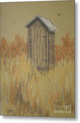 Metal Print featuring the painting The Outhouse by Suzanne McKay
