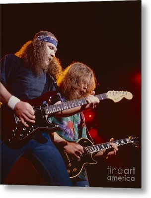 The Outlaws - Hughie Thomasson And Billy Jones Metal Print by Daniel Larsen