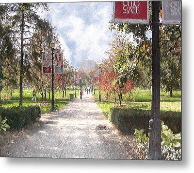 Metal Print featuring the painting The Oval At Ohio State by Ike Krieger