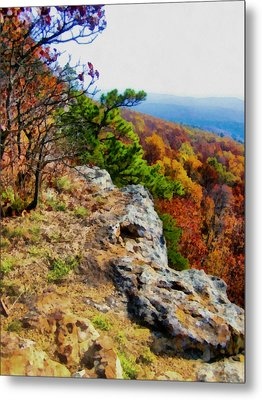 The Ozarks In Autumn Metal Print by Ann Powell