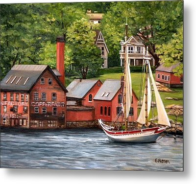 The Paint Factory And The Ardelle Metal Print by Eileen Patten Oliver