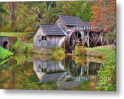 The Painted Mill Metal Print by Dan Stone