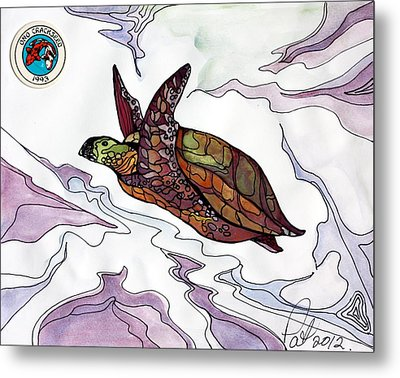 The Painted Turtle Metal Print