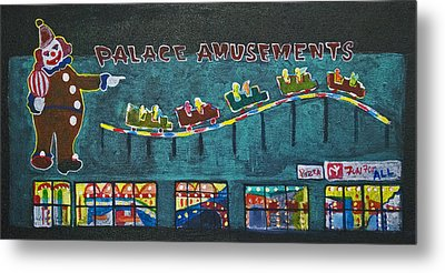 The Palace Clown At Night Metal Print by Patricia Arroyo