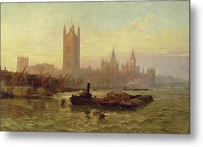 The Palace Of Westminster, 1892  Metal Print by George Vicat Cole