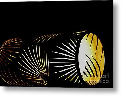 The Palm Frond Light Metal Print by Darla Wood