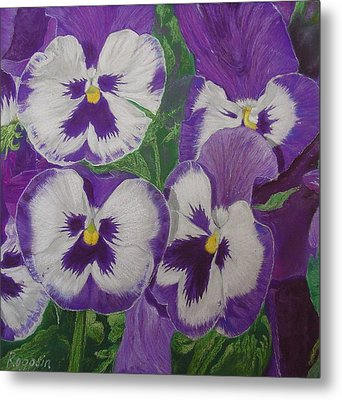 The Pansy Brothers Metal Print