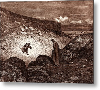 The Panther In The Desert, By Gustave Dore Metal Print by Litz Collection