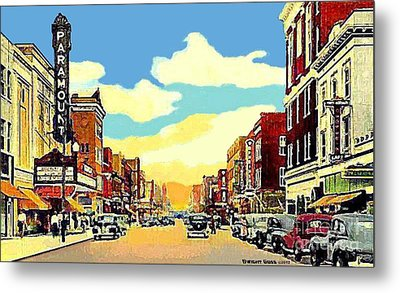 The Paramount Theatre In Newport News Va In 1940 Metal Print