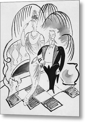 The Parents Of A Debutante At Her Coming Metal Print by Cecil Beaton