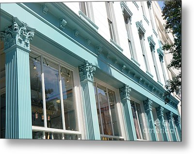 The Paris Market - Savannah Georgia Paris Market - Paris Macaron Shop - Parisian Shop Architecture Metal Print