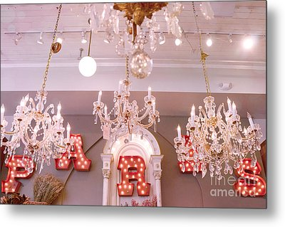 The Paris Market - Savannah Georgia Paris Market - Paris Market Shoppe - Paris Brocante Chandeliers Metal Print