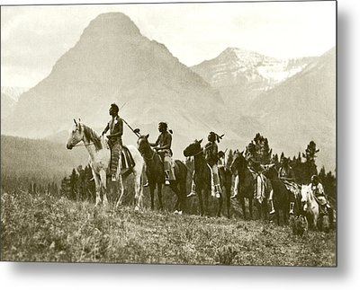 The Pass Finders Gravure Metal Print by Roland Reed