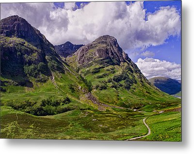 The Pass Of Glencoe Metal Print by Jacqi Elmslie